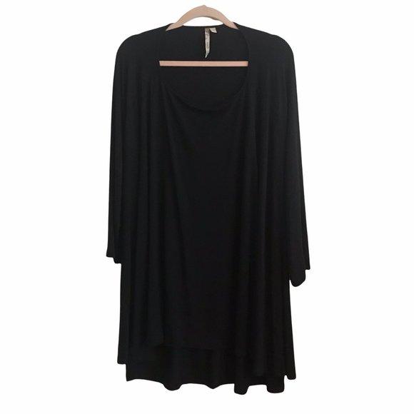 Comfy USA Black Jersey Tunic Top Black
